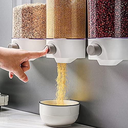 1000 / 1500ml Dispensador de cereales de prensa montado en l