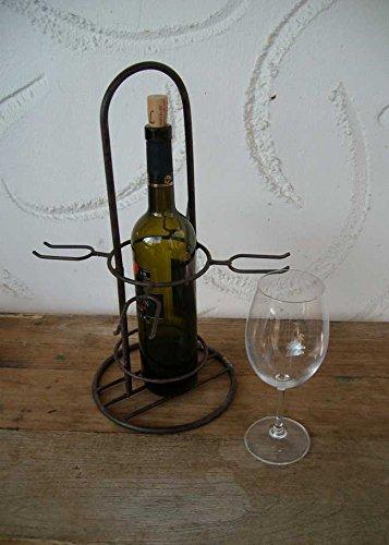 Weinregal Flaschen-Glashalter / Ständer Eisen Weinservierständer Eisen
