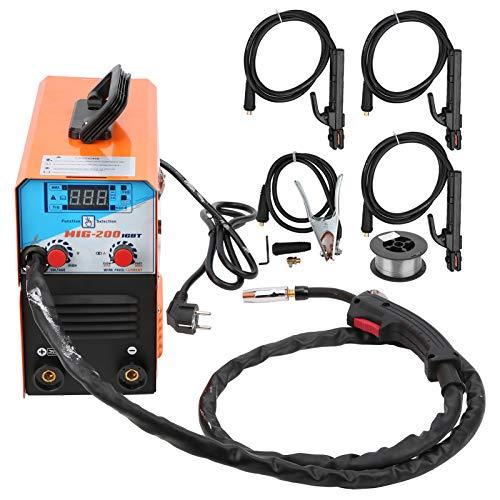 Máquina de soldadura eléctrica, MIG-200 sin soldador de gas herramienta de soldadura por arco de argón 200A enchufe europeo 220V