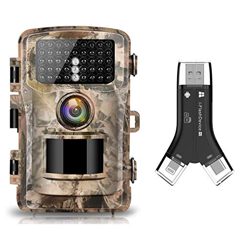 Campark Trail Camera 16MP 1080P 2.0' LCD Hunting Camera and SD Card Reader