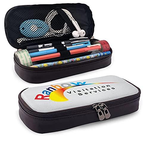 Estuche para lápices de arco iris de gran capacidad para lápices, organizador de escritorio, papelería para escuela y suministros de oficina
