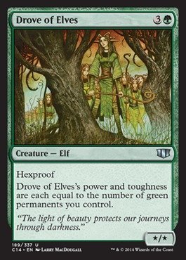 Magic The Gathering - Drove of Elves - Commander 2014