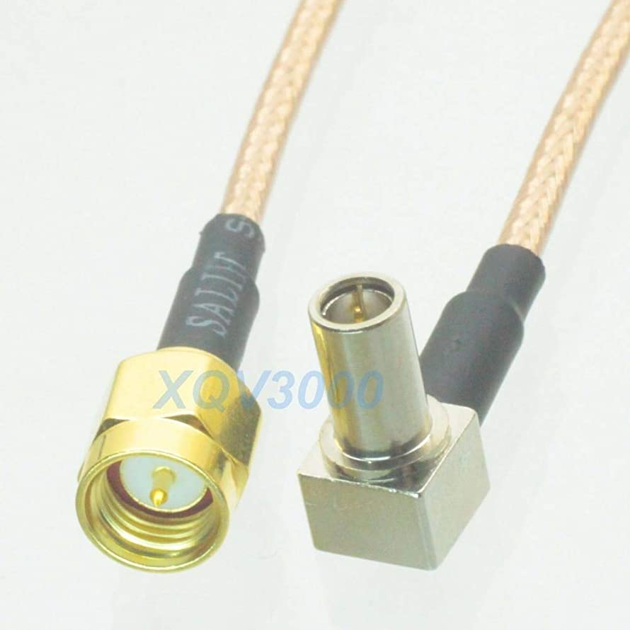 Gimax RG316 6inch RF pigtail SMA male plug pin to MS147 male right angle Cable Jumper for 3G USB Modem