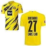 PUMA Borussia Dortmund BVB Heimtrikot 2020 2021 Home Trikot Sponsor BL Logo Kinder Emre Can 27 Gr 176