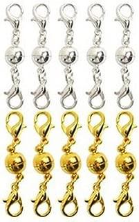Uteruik 12/Plaqu/é Argent Perle magn/étique fermoirs Bijoux 16,5/mm