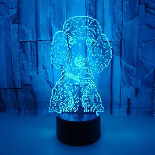 Luz Noche Infantil, Lampara Recargable, 3D Lámpara óptico Illusions Luz Nocturna 7 Colores Cambio De Botón Táctil Y Cable USB LED Luces Nocturnas Regalo De Cumpleaños Navidad Regalos