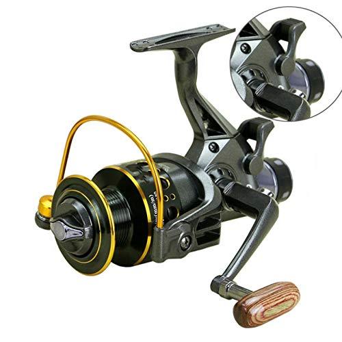 Doble freno diseño delantero y trasero carrete de pesca súper fuerte carpa alimentación de pesca spinning carrete spinning rueda tipo rueda de pesca ( Color : MG , Spool Capacity : 4000 Series )
