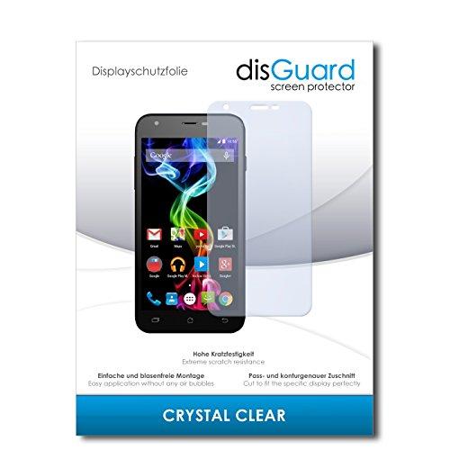 disGuard Bildschirmschutzfolie für Archos 50c Platinum [2 Stück] Crystal Clear, Kristall-klar, Unsichtbar, Extrem Kratzfest - Bildschirmschutz, Schutzfolie, Glasfolie, Panzerfolie