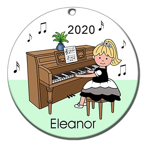 Piano Recital Personalized Ornament - Blonde Haired Girl