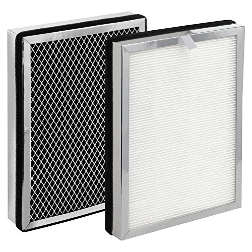 isinlive MA-25 H13 True HEPA Replacement Filter 2 Pack Compatible with Medify MA-25 Air Purifier 3 in 1 HEPA Filter, Activated Carbon Filter and Pre-Filter