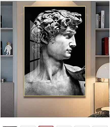 """Surfilter Print auf Leinwand Modern Schwarz weiß David Skulptur Wandkunst Leinwand Malerei Poster und Drucke Bilder für Wohnkultur 27.5"""" x 39,4""""(70x100cm) No Frame"""