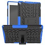 Boskin for Kindle Fire hd 10 case 2019 2017 Release,Kickstand Heavy Duty Cover for Amazon fire hd 10 Tablet 9th 7th Generation (Blue)