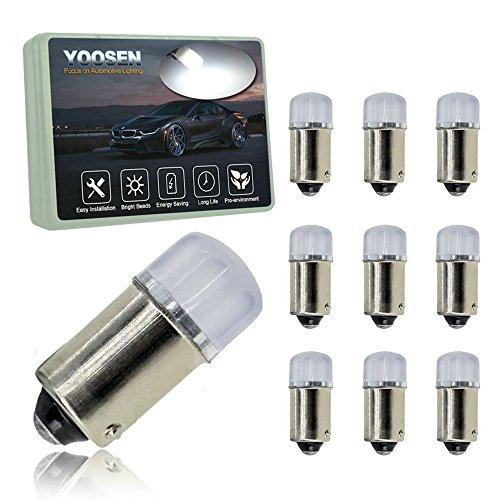YOOSEN 12V Interior / Exterior LED Light Super Stable and Bright Bulb Bayonet BA9 BA9S 53 57 1895 64111 T4W Size White Color