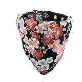 Newtensina Morbido Bandana Cane Collare Classico Fiore Sakura Design Carino Bandana per Ca...