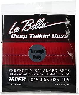 La Bella 760FS Deep Talkin Bass Flatwound Bass Strings - Through Body