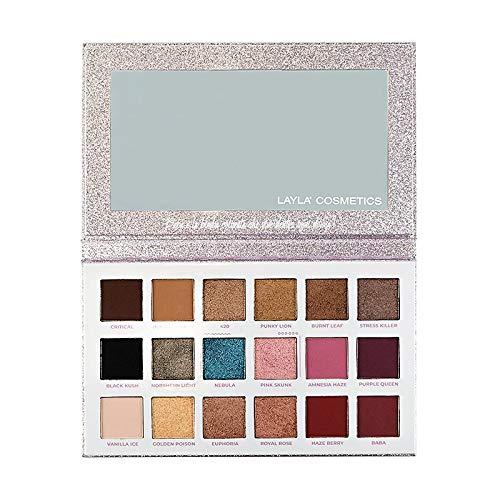 Layla Cosmetics Baba Palette di 18 ombretti di 2 differenti finish Eyeshadows