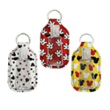 6 PCS Hand Sanitizer Holder Keychain with Travel Size Bottle Refillable Containers