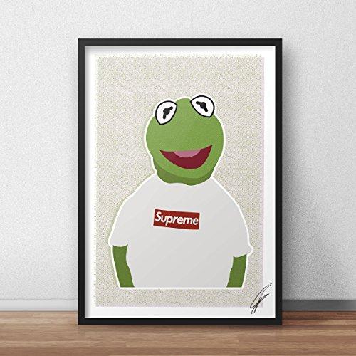 Von Kermit Supreme inspirierte Illustration.
