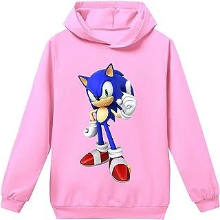 Silver Basic Tamaño Unisex para Niños Sonic The Hedgehog Sudadera con Capucha Sudadera Sonic Adventure Cosplay Sonic Ropa ...
