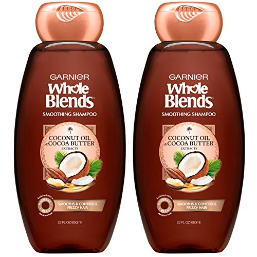 Garnier Hair Care Whole Blends Smoothing Hair Care Shampoo Set With Coconut Oil and Cocoa Butter...
