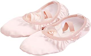 BESPORTBLE Ballerina Dance Shoes Ballet Dance Practice Shoes Satin Slippers Gymnastics Yoga Flats Sole with Ribbon Shoes f...