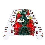Ingeniously Mantel de Navidad Mantel Decoración de Fiesta de Navidad Mantel Mesa de Hotel Mantel de Navidad Agregar un Ambiente Festivo para el Hotel Restaurante Cocina Hogar