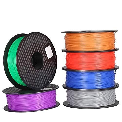 H.Y.FFYH Printer Accessories 6pcs PLA 1.75mm Filament 1KG Printing Materials Colorful For 3D Printer Extruder Pen Rainbow Plastic Accessories Black