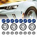 Bumper-Fasteners-Quick-Release 8PCS Universal Fit Blue Finish Jdm Quick Release Fastener Front Aluminum Bumper Quick Release Kit for Car Bumper Trunk Fender Hatch Lid