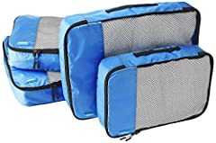 Double zipper pulls make opening/closing simple and fast Mesh top panel for easy identification of contents, and ventilation Soft mesh won't damage delicate fabrics Webbing handle for convenience when carried by itself Set includes 2 medium sized cub...