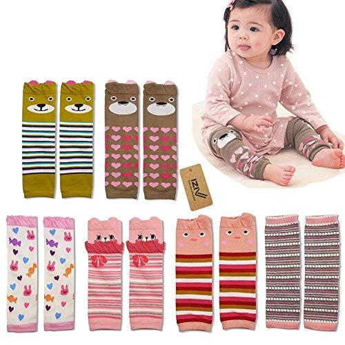 iZiv(TM) 6er Set Netter Baby-Kleinkind Bein Hülse Warmers Kniestrümpfe Protector Wärmer für Mädchen 0-3 Jahre