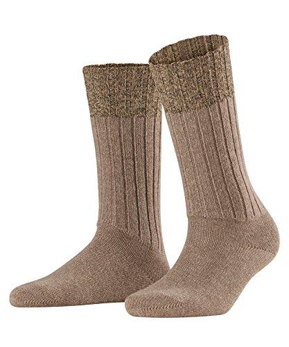FALKE Damen Socken Wiesn, Wolle/Kaschmirmischung, 1 Paar, Braun (Nutmeg Melange 5410), Größe: 39-42