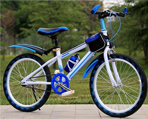 ZHIYUAN Ciclo di addestramento del Bambino di Equilibrio dei Ragazzi del Bambino Leggero 6-14 Anni Bambini Ragazzi Ragazze Che corrono la Sicurezza Prima Mountain Bike, Blue