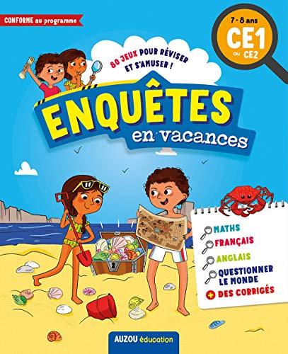 Cahiers de vacances ludiques - Enquêtes en vacances : du CE1 au CE2