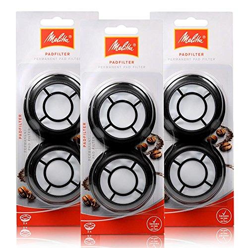 3 x Melitta filtre à café permanent / filtre pad p Version aluminium SENSEO