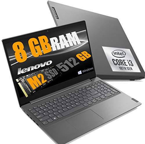 Notebook Lenovo SSD Cpu Intel Core I3 di 10Gen I3-1005G1, Display Full Hd Led da 15,6