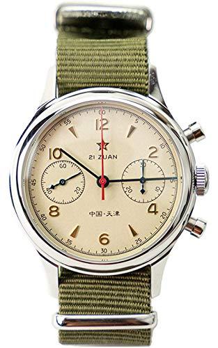 Sugess Orologio Meccanico Uomo Cronografo Seagull 1963 Movimento Orologio...