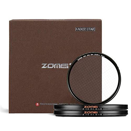 ZOMEI 77mm Sternfilter 4 Punkte + 6 Punkte + 8 Punkte Star-Effekt Starburst-Objektiv-Filter für Canon Nikon Sony Olympus und andere DSLR-Kameras