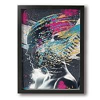 アートパネル フォトフレーム 額縁 フレーム アート 女性 アートフレーム 壁掛け インテリア 装飾 枠付き ポスター ウッドフレーム パネル 30×40cm