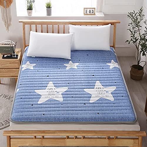 Colchones Colchón de Suelo Plegable, Completo, colchón de futón Acolchado japonés, Cama Nido Japonesa, colchoneta Suave para Dormir, tapete de Tatami, colchón Enrollable para dormitorios de