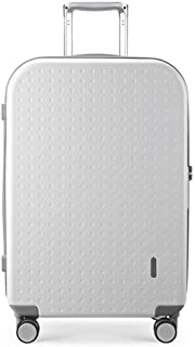 XLHJFDI Lightweight Luggage Travel Suitcase,Business Trolley Case,ABS+PCTravel Totes Hand Luggage,Universal Wheel Trolley Case,Size : 42×24.5×65cm (Color : White)