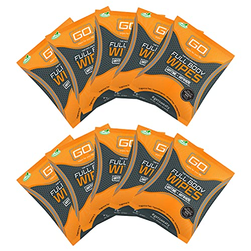 HyperGo Rinse-Free Hypoallergenic Biodegradable Bathing Wipes - All Natural Refreshing Wipe for Post...