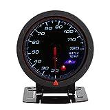 YOPOTIKA Indicatore di Temperatura Dell'acqua a Led Blu Digitale Universale 1Pc Misuratore di Portata 20-120 ? per Auto da Corsa