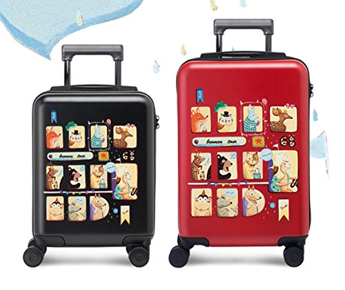Equipaje Lyl Bolsa Ligera TSA Lock Trolley Maleta Dura de la PC de Viajes Shell Carry On Lugg (Color : Black, Size : 28 Inch)