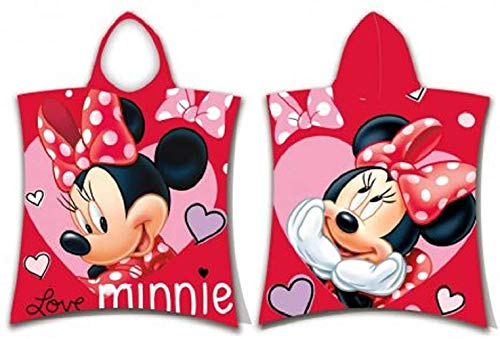 Minnie Mouse - Poncho con capucha, diseño de Minnie Mouse