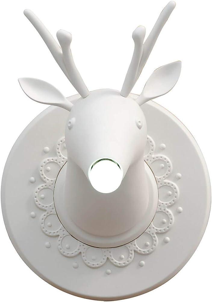 Karman marnìn, lampada da parete a forma di cervo,in ceramica AP645 m