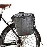 自転車 パニアバッグ リアバッグ サイドバッグ 防水 大容量 軽い バイク 収納バック 携行バッグ (ブラック, M)