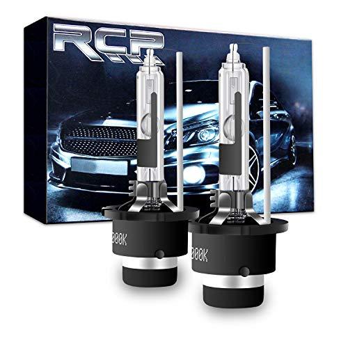 RCP - D2R6 - (A Pair) D2R 6000K Xenon HID Replacement Bulb Diamond White Metal Stents Base 12V Car Headlight Lamps Head Lights 35W