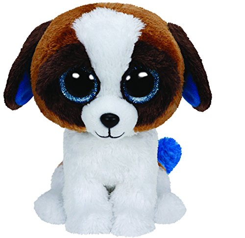 Ty - Peluche Perro San Bernardo, 15 cm, Color Blanco y marrón (United Labels 36125TY)