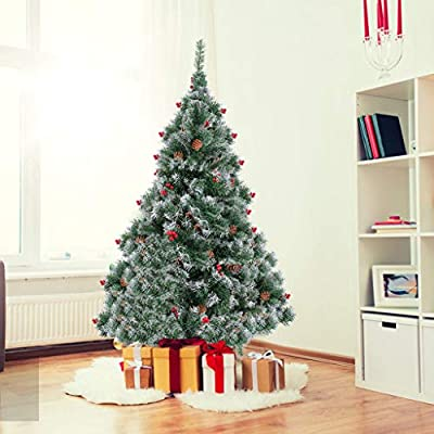 US in Stock Artificial Christmas Tree, 7 Ft Flo...