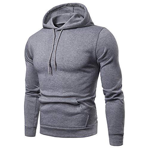 Preisvergleich Produktbild SFYZY Herren Langarm Pullover Hoodie Sweatshirts mit Känguru Taschen Einfarbig Hoody Plain Pullover Frühling Herbst Langarm Bottom Hoodie Sweatshirt Top Outwear Bluse